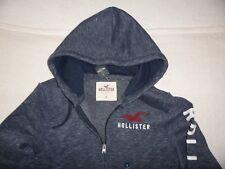 Mens Hollister by Abercrombie & Fitch Fleece Zip Hoodie Sweatshirt Size Small