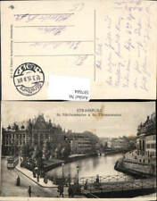 597684,Strasbourg Straßburg St Nikolausstaden u. St Thomasstaden Brücke Straßenb