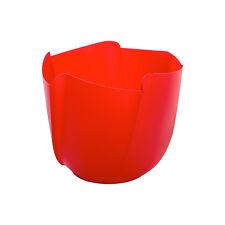 Umtopf Twister rot Ø 19cm Übertopf 5 Stück Blumentopf DIY Beton gießen Dekotopf