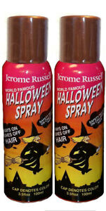 Jerome Russell Halloween Spray COPPER Temporary Hair Color TWO PACK  *Fast Ship*