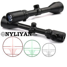Illuminated 3-9x50EG Red/Green Optic Rifle Scope with Mounts For Hunting