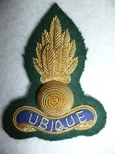 Royal Engineers (attached Royal Marines) Officer's Bullion Wire Beret Cap Badge
