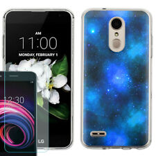 TPU Case for LG Zone 4 / Phoenix 4 + Tempered Glass - Cosmos/Stars