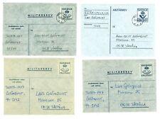 Sweden V30 Military mail Cover (4 pcs) used/ addressed