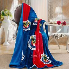 "Chivas Guadalajara Sherpa(borrego) Throw 50""x60"" Blanket"