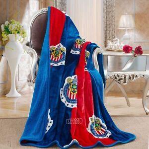 "Chivas Guadalajara Sherpa(borrego) Throw Blanket 50""x 60"""