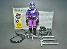 "GI Joe ARAH Techno-Viper 1987 3.75"" 100% Complete w/File Card Hasbro Vintage"