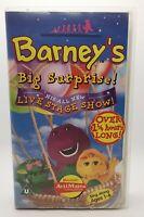 Barney's Big Surprise! Live Stage Show VHS Video Tape Cassette Classic TBLO