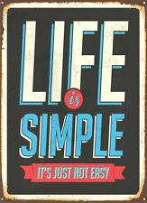 Life Is Simple funny door Sign Sticker Decal Graphic Vinyl Label