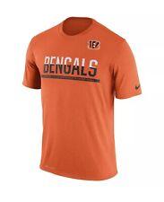 Cincinnati Bengals Nike Dri-Fit Nfl Practice Tee Orange Men's T-shirt Sz L New