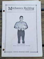 APRIL 2, 1935 MECHANICS BUILDING WRESTLING PROGRAM-BOSTON-WINN ROBBINS-RARE!