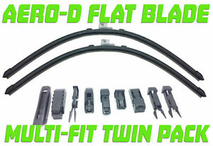 """For AUDI S8 D2 1994-2003 22/22""""Aero-D Flat windscreen Wipers Front"""