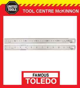 """FAMOUS TOLEDO 300/12 300mm / 12"""" STAINLESS STEEL DOUBLE SIDED METRIC & A/F RULE"""