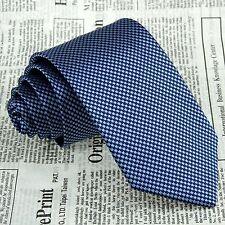 Classic Men's Navy Blue Floral Neck Tie 100 Silk Jacquard Woven Meeting Necktie