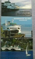 WASHINGTON STATE FERRIES POSTCARDS Bainbridge Island WA Lot of 3