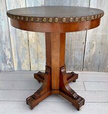 Antique Mission Arts & Crafts Paine Furniture Oak Table Faux Leather Top c. 1910