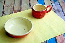 Yellow 100% Linen Table Mat, Handmade Natural Linen Placemat Decor Item Gift