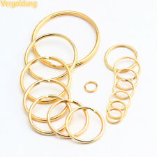 Goldfarbene Schlüsselringe Verbindungsring 10mm bis 50 mm 5 Stück bis 500 Stück