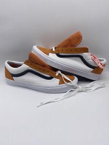 VANS STYLE 36 RETRO Old Skool SPORT SKATE SHOES APRICOT ORANGE WHITE Size 13