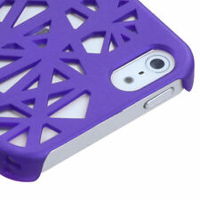 For iPhone 5 5S SE Rubberized Bird Nest HARD Case Snap On Phone Cover Purple