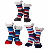 Nuzzles Slipper Socks for Men Xmas Socks Fleece Lined Non-Slip SALE Yoga socks