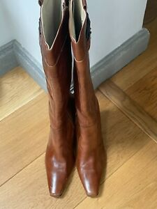 Next Knee High Brown Boots Size 8