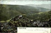 Schwarzburg Thüringen 1905 Blick vom Trippstein gelaufen nach Aue Verlag Zieher