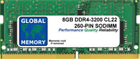8GB (1 x 8GB) DDR4 3200MHz PC4-25600 260-PIN SODIMM MEMORY FOR LAPTOPS/NOTEBOOKS
