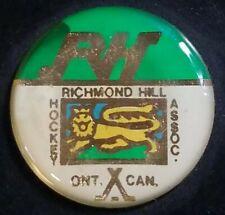 Richmond Hill Hockey Assoc. Ontario Canada Viceroy Puck Sticker-Gel Like-Logo