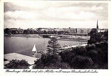 Hambourg, regard sur la du panaché avec nouvelle Lombard pont, AK 1957 tourné