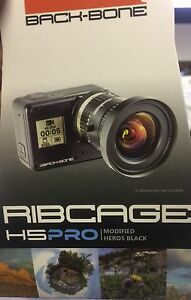 MODIFIED GOPRO HD HERO5 BLACK CAMERA C/CS DSLR EOS LENS CHANGE RIBCAGE BACKBONE