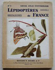 Lépidoptères de France Rhopaloceres Atlas entomiologie Le CERF éd Boubée 1944