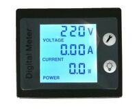 100A AC Power KWh Watt Meter Volt Amp Voltmeter Ammeter Open Close CT 110V 220V