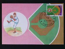 Italia MK 1973 ITALY BASEBALL maximum carta carte MAXIMUM CARD MC cm c6986