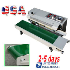 USA Sale Automatic Horizontal Continuous Plastic Bag Band Sealing Sealer Machine