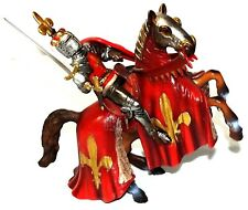 Schleich Prince on Reared Horse (Red) #70018 Rare Retired 2013 World of Knights