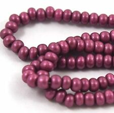 """Czech Glass Seed Beads Size 6/0 """" BERRY PEARL MATTE """" Strands"""