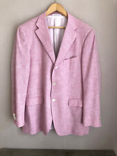 Raffaele Caruso señores mens chaqueta Jacket rosa cachemira Cashmere bambú 54 R