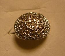 Diamond Cocktail Ring Sz. 10  44 diamonds .40tcw  MSRP $844
