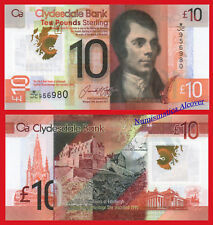 ESCOCIA CLYDESDALE BANK SCOTLAND 10 Libras pounds 2017 Polymer Pick NEW SC / UNC
