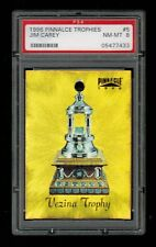 PSA 8 VEZINA TROPHY (Georges Vezina) 1996 Pinnacle Hockey Card #5 JIM CAREY