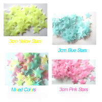 100 Pcs Glow in Dark Stars Wall Stickers Kids Room Space Ceiling Luminous Decal