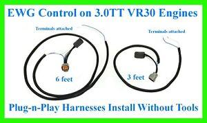x2 Fits Q50 Q60 VR30 JB4 Harness EWG Connector Wires Turbo Wastegate Boost