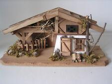 Krippen-Haus, Holzhaus, Stall, Weihnachtsdekoration, Weihnachtskrippe
