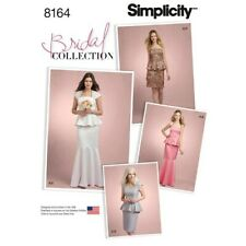 Simplicity 8164 Womens special occasions 2 piece dress bridal collection  12-20