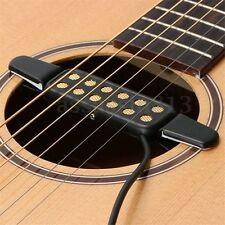 12 Hole Sound Pickup Microphone Wire Amplifier Speaker Black for Acoustic Guitar