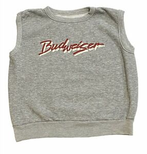 Budweiser Muscle Tee / Tank / Cropped Top Sz Large  Unique Retro Graphics Unisex