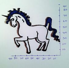 Unicorn Horse Iron On/Sew On Patch/Badge Embroidered Fancy Dress #38