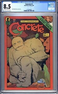 Concrete #1 - CGC Graded 8.5 (VF+) 1987  Paul Chadwick - First Issue