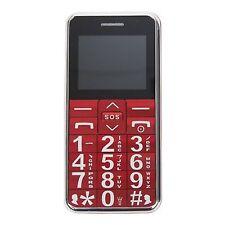 Dígito de grandes teléfono móvil con grandes dígitos Lifeline Desbloqueado tercera edad Rojo